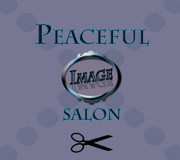 Peaceful Image Salon with scissors