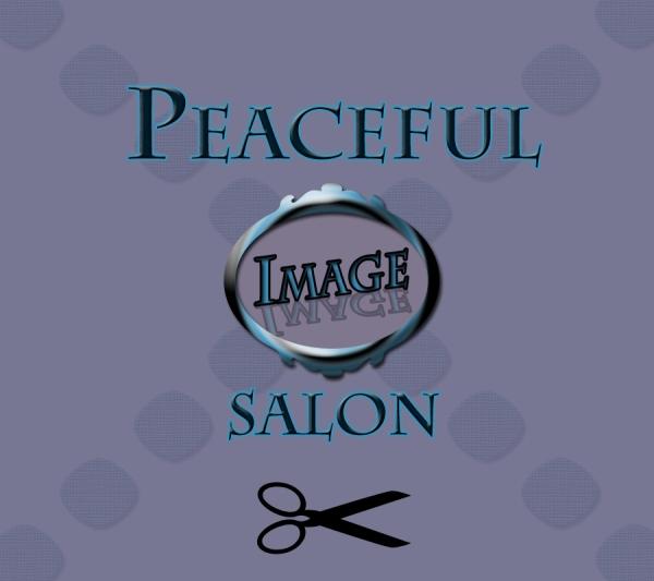 Peaceful Image Salon with scissors